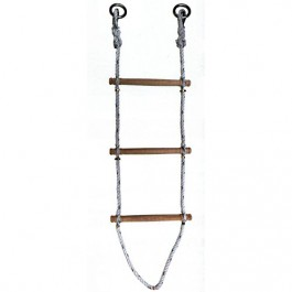 echelle de corde polypropyl ne 16 mm barreaux en bois. Black Bedroom Furniture Sets. Home Design Ideas