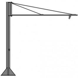 potence sur colonne l g re en acier inox rotation 270 pftli avec fl che triangul e en profil. Black Bedroom Furniture Sets. Home Design Ideas