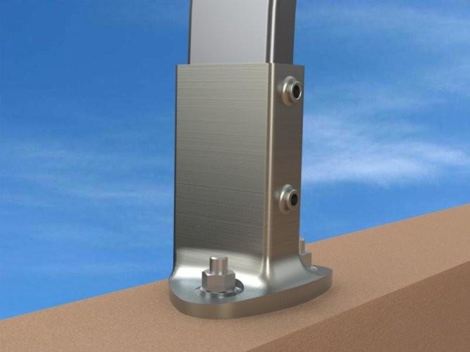 garde corps en aluminium fixation sur acrot re garde corps terrasses inaccessibles. Black Bedroom Furniture Sets. Home Design Ideas
