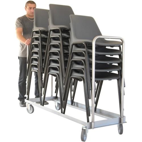 Chariot porte chaises pliables ou empilables capacit for Chaises pliables