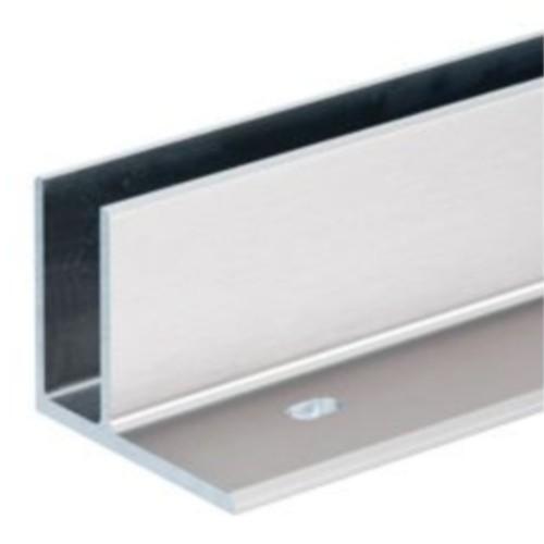 Profil bas pour verre en aluminium anodis montage - Profile alu en u ...