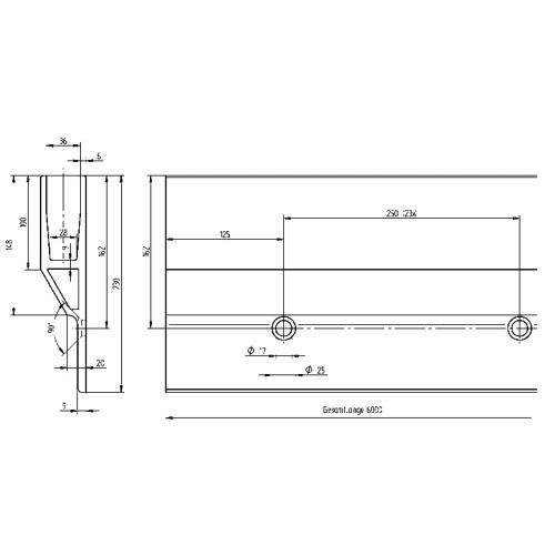 profil bas pour verre en aluminium anodis montage en applique mod le renforce. Black Bedroom Furniture Sets. Home Design Ideas