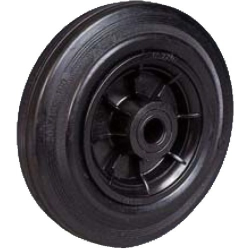 roue avec corps thermoplastique et bandage en caoutchouc noir semi lastique rtc force 60 kg. Black Bedroom Furniture Sets. Home Design Ideas