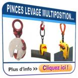 Pinces à tôles multipositions pour levage VERTICAL et HORIZONTAL