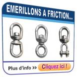 Emerillons CROSBY à friction (non rotatifs sous charge)