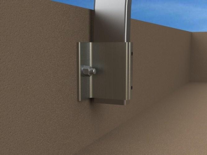 garde corps en aluminium fixation en applique garde. Black Bedroom Furniture Sets. Home Design Ideas