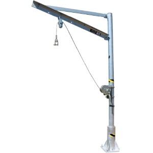Potence amovible AG en acier galvanisé pour traitements des eaux - Capacité 500 kg - Portée 0,72 m à 1,30 m