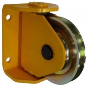 Réa sur roulement rapport d'enroulement R=22 avec support ORIENTABLE RSOR - Ø 125 mm à 500 mm