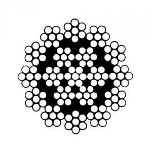 Câble acier galvanisé antigiratoire 19 torons de 7 fils - Ø 3 mm à 16 mm