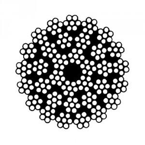 Câble acier galvanisé antigiratoire 35 torons de 7 fils - Ø 9 mm à 38 mm