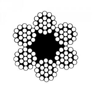 Câble acier galvanisé 6 torons de 19 fils avec âme textile - Ø 4 mm à 12 mm