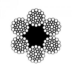 Câble acier galvanisé 6 torons de 36 fils avec âme textile - Ø 10 mm à 36 mm