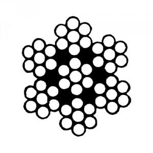 Câble acier galvanisé 7 torons de 7 fils avec âme métallique - Ø 1,5 mm à 6 mm