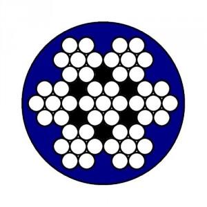 Câble acier GALVANISE enrobé POLYPROPYLENE coloris bleu - Ø 4,5/6 mm et 6,3/8 mm