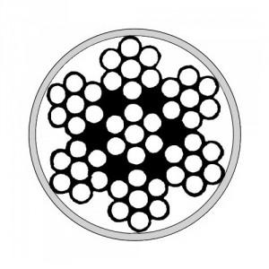 Câble acier GALVANISE gainé PVC cristal