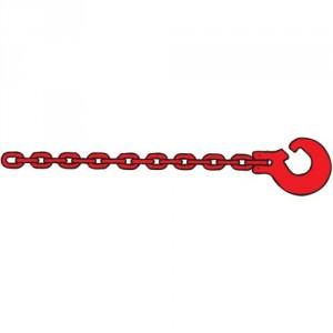 Chaîne choker DCT1 GRADE 80 profil carré avec crochet fendu - Section 8 mm