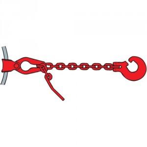 Chaîne choker DCT2 GRADE 80 profil carré avec crochet fendu et raccourcisseur coulissant - Section 8 mm
