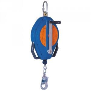 Antichute à rappel automatique BLOCFOR R avec manivelle de récupération et câble acier galvanisé / inox - Longueur 20 m