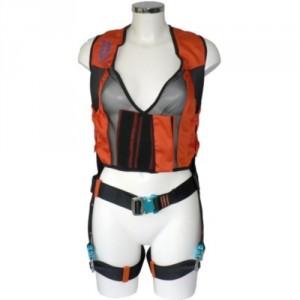Harnais femme LADYTRAC avec 1 point d'accrochage dorsal - Avec veste en stretch