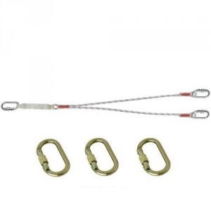 Longe drisse absorbeur double LDAD111010 avec 3 connecteurs M10 ouv. 17 mm
