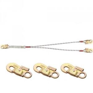 Longe drisse absorbeur double LDAD114141 avec 3 connecteurs M41 ouv. 17 mm
