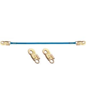 Longe d'assujettissement en sangle LS304141 avec 2 connect. M41 auto ouv. 17 mm