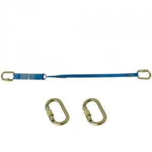 Longe sangle absorbeur LSA301010 avec 2 connecteurs manuels acier M10 ouv. 17 mm