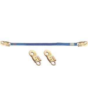 Longe d'assujettissement en sangle élastique LSE4141 avec 2 connect. M41 auto ouv. 17 mm