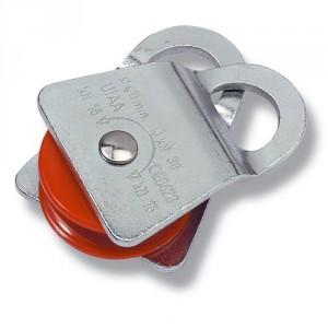 Poulie simple flasques ouvrants PSO - Pour drisse Ø 13 mm maxi