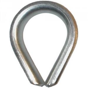 Cosse coeur zinguée GOG grande ouverture - Pour câble Ø 4 mm à 60 mm