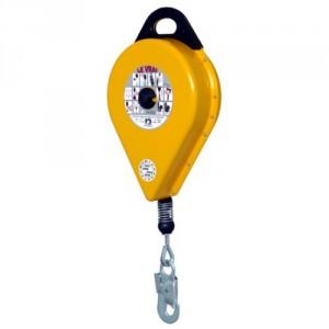 Antichute à rappel automatique NS avec câble acier GALVANISE, carter métallique - Longueur 5 m à 40 m