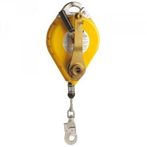 Antichute à rappel automatique NSTS avec manivelle de récupération et câble acier galvanisé - Longueur 20 m