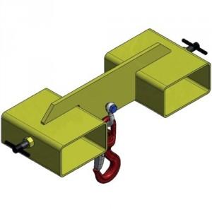 Étrier double CCH pour fourches de chariot - Capacité 1,5 t à 8 t