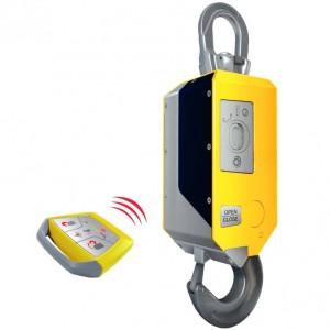 Crochet motorisé et télécommandé pour prise et dépose de charge à distance - Capacité 5 t