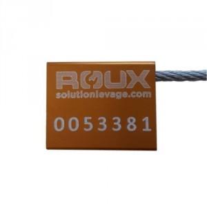 Câble d'identification Ø2,5x250 JAUNE boitier ALU 26x22x6 mm Numéroté