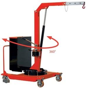 Grue d'atelier en porte-à-faux avec MÂT ROTATIF sur 360° - Capacité 0,32 t à 0,5 t