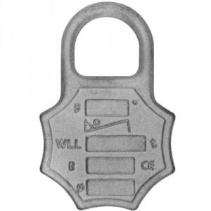 101PCFG8 - Plaque de charge et d'identification grade 80 en acier FORGÉ