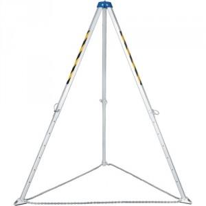 Trépied de levage aluminium avec 4 points d'ancrage - Hauteur réglable de 1470 mm à 2290 mm - Capacité 500 kg