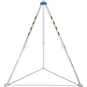 Trépied de levage ACIER avec 4 points d'ancrage - Hauteur réglable de 1470 mm à 2290 mm - Capacité 1000 kg