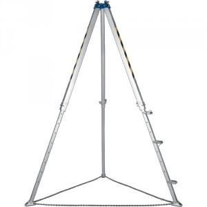 Trépied de levage aluminium équipé de marchepieds avec 3 points d'ancrage et 2 poulies - Hauteur réglable de 1790 mm à 2890 mm - Capacité 1000 kg