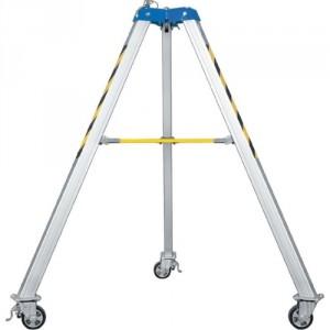 Trépied de levage en aluminium à roulettes - Hauteur 1600 mm - Capacité 1000 kg