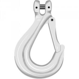 Crochet simple à chape CSC GRADE 80 avec linguet - Capacité 0,8 t à 15,5 t