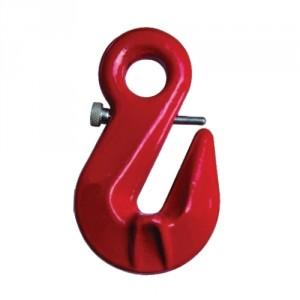 Crochet d'arrimage parallèle à oeil CROA GRADE 80 avec sécurité - Pour chaîne Ø 8 mm à 13 mm
