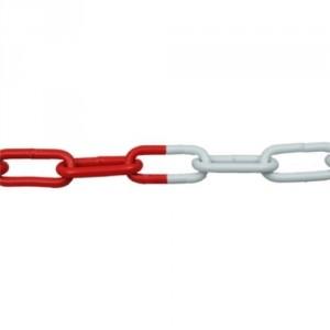 Chaîne de signalisation ACIER CAS rouge & blanche - Ø 5 mm