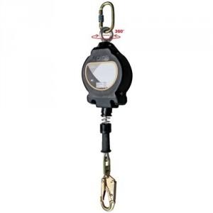 Antichute à rappel automatique avec câble acier GALVANISE, carter ABS - Longueur 10 m, 15 m, 20 m et 30 m