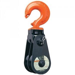 Poulie double à 2 réas avec crochet - Capacité 12 t (