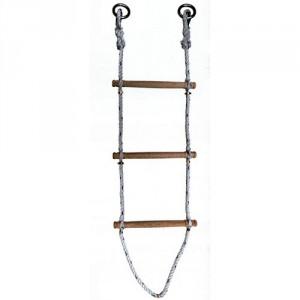 Echelle de corde polypropylène Ø 16 mm (barreaux en bois) - Longueurs 3 m à 30 m