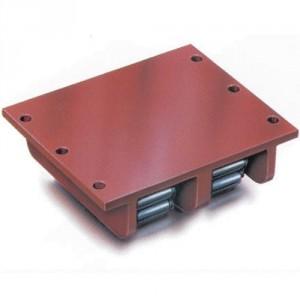 """Patin rouleur """"les super robustes"""" à plateau avec chenilles acier. Modèle ZAS-H, ZAS-H-50CrV40 - Capacité 80 t à 400 t"""