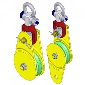 Poulie de traction POM 'OFF-SHORE' avec MANILLE - Capacité 1 t à 32 t