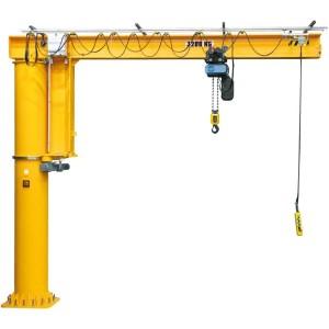 Potence sur colonne à rotation totale 360° PRT avec flèche inversée en IPE - Capacité 0,15 t à 10 t